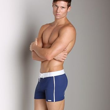 Sauvage Retro Nylon/Lycra Swim Short Navy 252NAV at International Jock Underwear & Swimwear