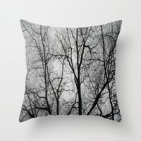 Winter Lace Throw Pillow by Rosie Brown | Society6