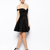 ASOS Scuba Bardot Skater Dress at asos.com