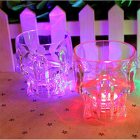 5pcs/lot LED cup flashing shot glasses flashing cup led flash small cup for Halloween Christmas,Bar KTV supplies