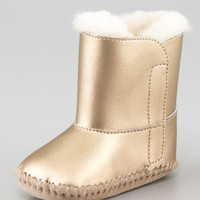 Cassie Metallic Bootie, Gold, 0/1-4/5