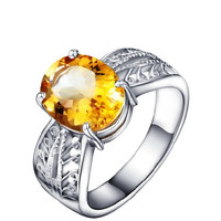 3.45ct Citrine silver ring