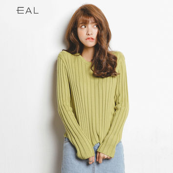 Winter Women's Fashion Korean Knit Long Sleeve Tops [6466145348]