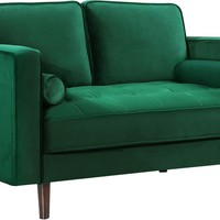 Emily Green Velvet Loveseat