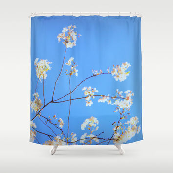 light beauty, in memory of Mackenzie Shower Curtain by Marianna Tankelevich