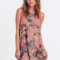 Tahiti Haze Floral Dress