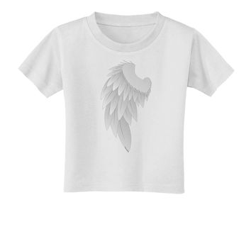Single Left Angel Wing Design - Couples Toddler T-Shirt