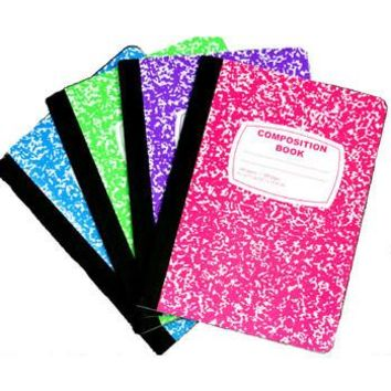 COMPOSITION NOTEBOOK NEON COLORS