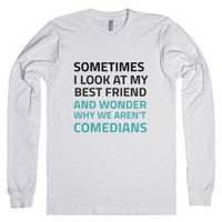 Comedians-Unisex White T-Shirt