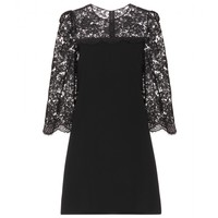 dolce & gabbana - lace-trimmed crepe dress
