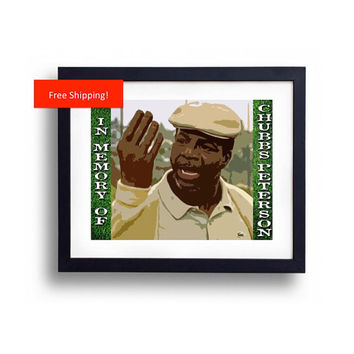Happy Gilmore Chubbs Peterson In Memory Of Golf Memorial Gag Gift Funny Print Poster Adam Sandler Man Cave