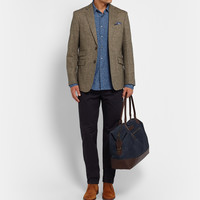 Incotex - Printed Cotton-Chambray Shirt | MR PORTER