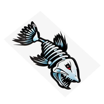 Shark Skeleton Car Styling Car Stickers and Decals Anti Heat and Sunlight 19.5*11CM Car Body Decor Auto Motorcycle Sticker