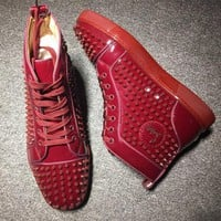 Cl Christian Louboutin Louis Spikes Style #1837 Sneakers Fashion Shoes