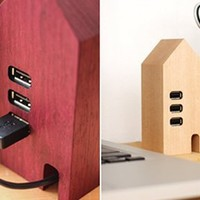 Hacoa Wooden USB Hub House
