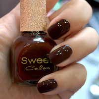 Dark Chocolate Sweet Color 12ml Nail Polish [580]