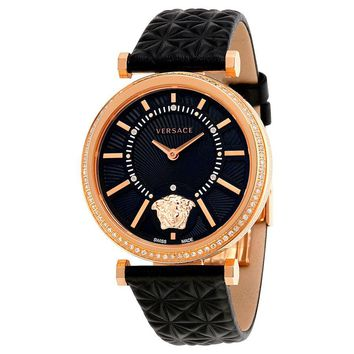 Versace V-Helix Black Dial Ladies Watch VQG050015