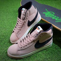 Nike Blazer Mid Vintage X BEAUTY & YOUTH Pink Black Shoes - Best Online Sale