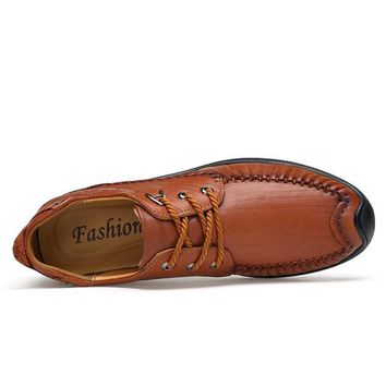 Men Luxury Vintage Carved Cow Leather Lace Up Business Casual Shoes