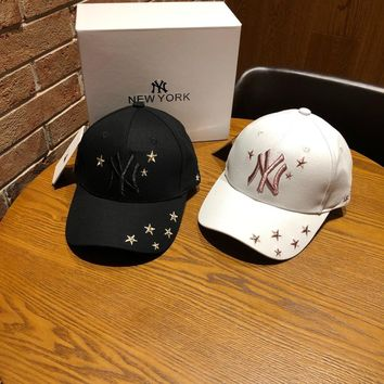 """""""New York """" Unisex Fashion Five-pointed Star Letter Embroidery Baseball Cap Couple All-match Peaked Cap Sun Hat"""