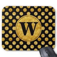 Faux gold dots pattern mouse pad