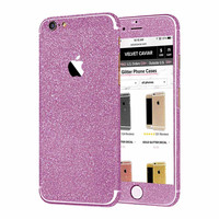 PURPLE GLITTER DECAL