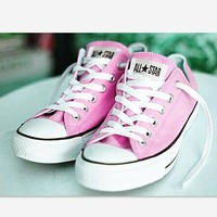 Converse All Star Sneakers canvas shoes for Unisex sports shoes Low-top pink