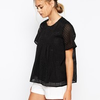 The Laden Showroom X Meekat Jolie Grid Layered Top