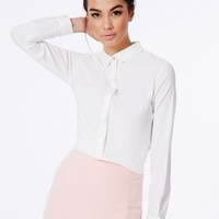 Missguided - Janella White Crepe Blouse