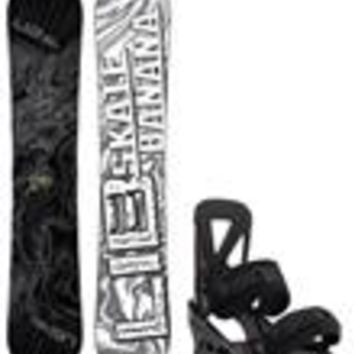 Lib Tech Skate Banana Snowboard w/ Burton Custom Re:Flex Bindings