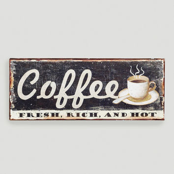 Metal Coffee Sign - World Market