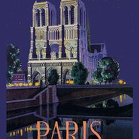 BE Paris and Notre Dame Cathedral: Fine art canvas print (12 x 18)
