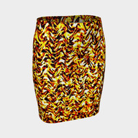 abstract design 02 Fitted Skirt