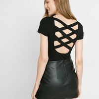 Crisscross Back Short Sleeve Tee