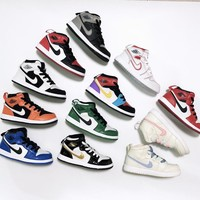 Air Jordan 1 Retro 12 Colors Child Shoes Toddler Kid Sneaker #1 - Best Deal Online