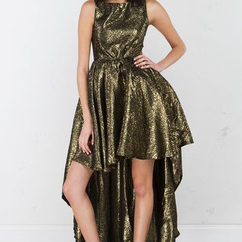 High Low Dress in Gold
