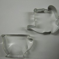 Teapot and Tea cup Cookie Cutter set for Red Hat by KitchenCrafts