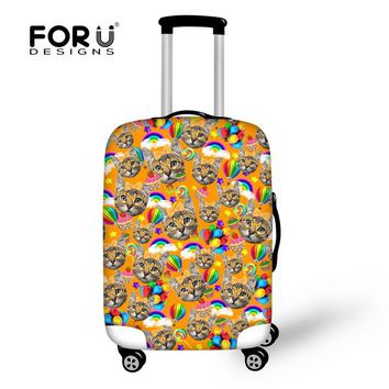 Animals Kitty Cat Travel Accessories Travel Luggage Cover Case For 18-30 inch Waterproof Suitcase Cover Protable Trolley Sets