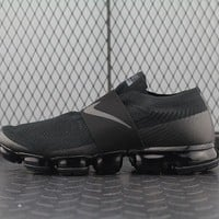 Nike Air Max Vapor Max Laceless For Women Men Running Sport Casual Shoes Sneakers Black