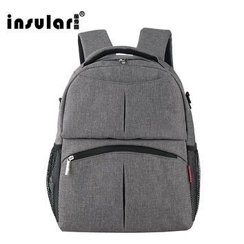 Insular Large Capacity Maternity Nappy Diaper Backpacks For Travel Multifunctional Mother Mummy Mom Baby Bags Maternidade