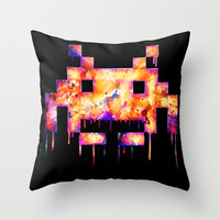 Game Over Throw Pillow by beart24