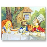 The Mad Hatters Tea Party Full Color Post Card from Zazzle.com