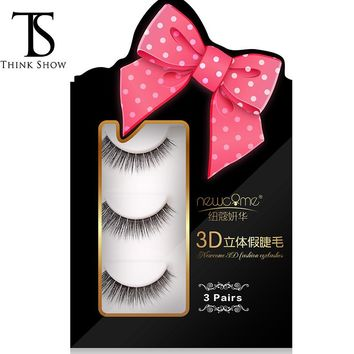 Thinkshow 3D Nature Long Korea Silk Eyelashes Semi-Permanent Professional False Eyelashes Salon Use Lashes Faux Cils