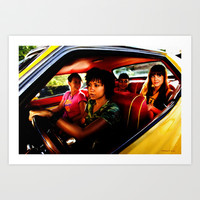 Death Proof - Quentin Tarantino - 2007 Art Print by Gabriel T Toro