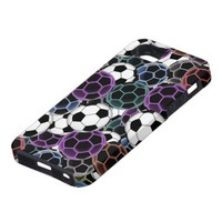 Soccer Ball Collage iPhone 5 Covers from Zazzle.com