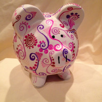 Pink hand made Piggy Bank piggybank