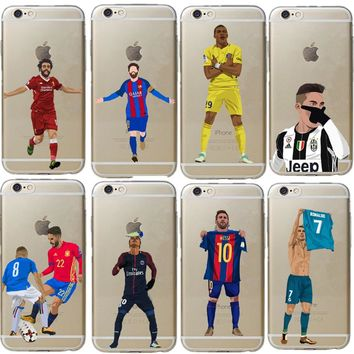 Messi Neymar Cristiano Ronaldo Griezmann Mbappe Football Jersey for iphone 6 6S 7 8 Plus 5S 5 SE X XR XS Max Hard PC Case Cover