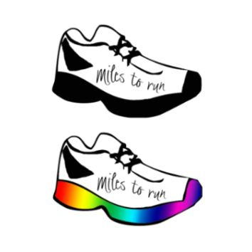 Miles to Run Temporary Tattoos
