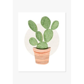 Art Print: Prickly Pear Cactus