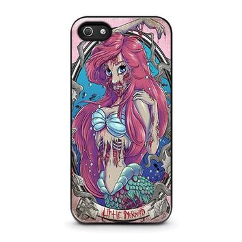 the zombie mermaid princess disney iphone 5 5s se case cover  number 1
